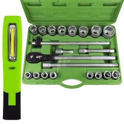 Juego herramientas + linterna 500Lm