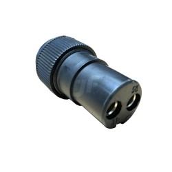 Conector 2 pin plástico macho