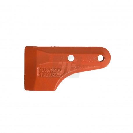 Gaspardo. G21120042. Guía cuchilla inferior original (rana)